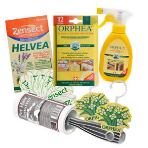 Caraselle Deluxe Orphea Moth Buster Pack: Hanging Diffusers, Salvalana Spray, Caraselle Pet Hair Remover & Repellent Strips