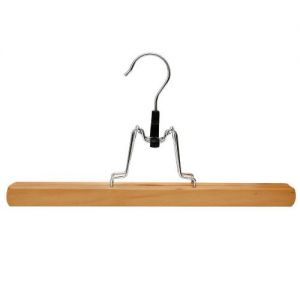 Caraselle 10 Wooden Trouser Clamp Hangers