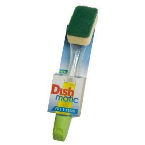 The Dishmatic Washing Up Brush plus Heavy Duty Sponge