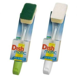 Dishmatic Washing Up Brush with Heavy Duty Sponge from Caraselle