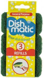 3 Dishmatic Refill Sponges