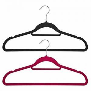 Non-Slip Huggable Hanger with Tie/Belt Bar & Notches 45cm wide & 25cm high