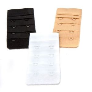 The Caraselle Bra Extender, 2 Hook Extenders 3 per pack assorted colours : white / black / flesh