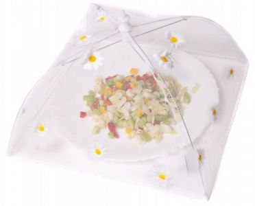 Caraselle Pop-Up Mesh Food Cover Umbrella In Polyester with Daises Design 30 x 30 cm 18 cm