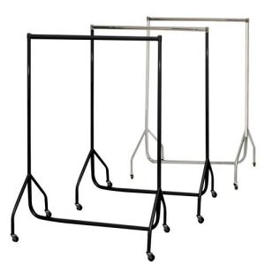 2 5ft Robust Black Clothes Rails with stronger than the normal rail frame.