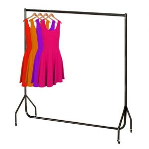 6ft Robust Black Clothes Rail from Caraselle