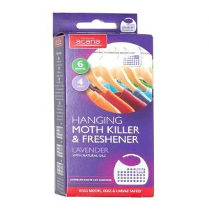 Acana Hanging Moth Killer & Freshener Pack of 4 from Caraselle