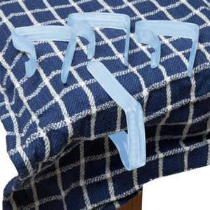 Pack of 4 Blue Table Cloth Clips