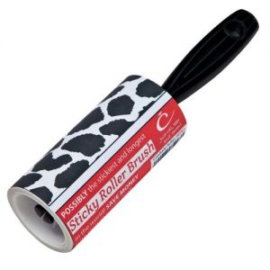 Caraselle Cowhide Sticky Roller Brush - 7.5m roll of Sticky Paper