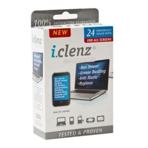 Caraselle I-Clenz Hi Tech Multi Purpose Screen Wipes 24