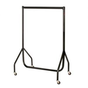 Black 4ft high 3ft wide Junior Garment Rail