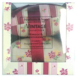 Heathcote & Ivory Mimosa and Pomegranate Cushions
