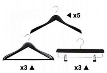 HANGER OFFER:Wooden Hanger Deluxe Black Pack A from Caraselle 50% Off