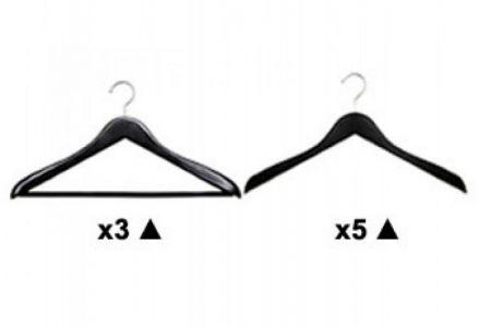 HANGER OFFER:Wooden Hanger Deluxe Black Pack B from Caraselle 50% Off