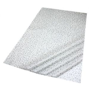 Gift Wrap Tissue in Silver Stars/White Design - 5 Sheets