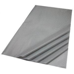Gift Wrap Tissue in Black & White Pinstripe Design - 5 Sheets