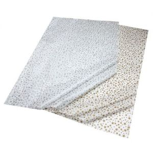 Gift Wrap Tissue Stars Gold & Silver Combination Pack - 5 Sheets