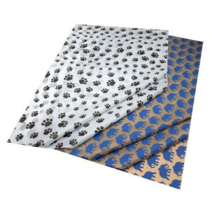Gift Wrap Tissue Puppy Paws & Elephants Combination Pack - 5 Sheets