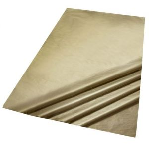 5 Sheets of Metallic Gold Colour Acid Free Bleed Resistant Unbuffered Tissue Paper 500 x 700