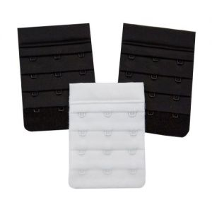 3x 3-Hook Bra Extenders - 2 Black & 1 White from Caraselle
