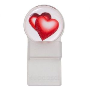 Caraselle Round Tozo Spectacle Holder Clear Hearts