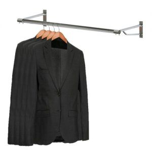 Chrome Wall Mounted 4ft Garment Rail