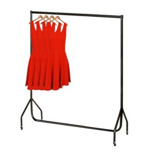 5ft Robust Black Clothes Rail with stronger than the normal rail frame.