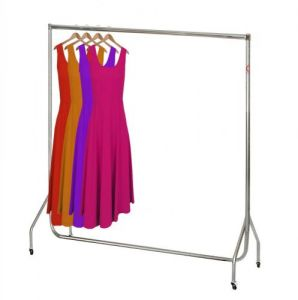 6ft Chrome Garment Rail
