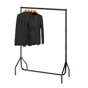 4ft Superior All Black Clothes Rail with stronger than the normal rail frame.