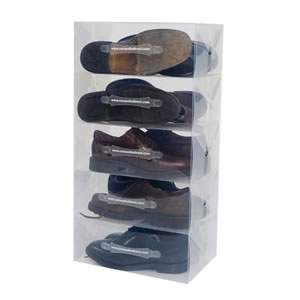 description 5 mens stackable shoe storage boxes caraselle introduces