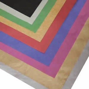 Pack of 25 Sheets of Assorted Colours of Acid Free Tissue Paper