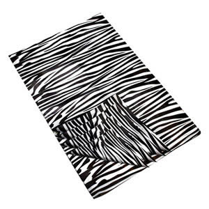 The New Caraselle Pack of 25 Sheets of Zebra Print Deluxe Tissue Paper  18gsm  45 x 70cm