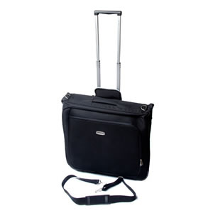 Carlton Deluxe Suit Carrier with Trolley finished in Black