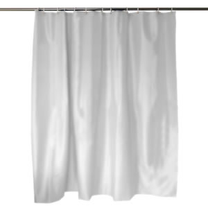 Caraselle Anti Bacterial White Shower Curtain 180 x 180 cm with Curtain Rings