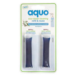 Aquo Eco-Friendly Bathroom Surface Cleaner Refill Pack of 2 capsules