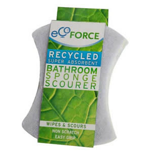 Ecoforce Recycled Super Absorbent bathroom Sponge Scourer