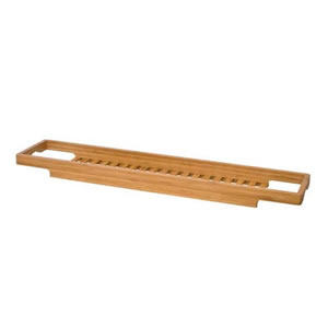 Deluxe Bamboo Large Slim Bath Bridge