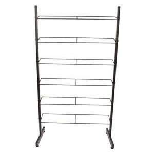Black Steel 6 Tier Shoe Rack
