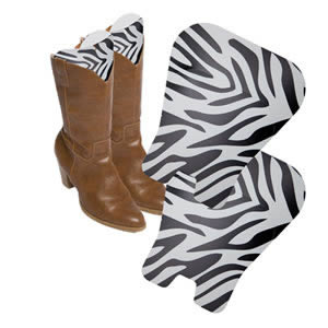 1 Pair of Caraselle New & Unique Zebra Print Boot Shaping Storage Inserts for Knee Length Boots