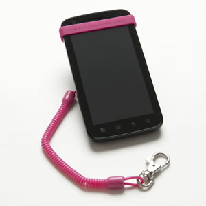 The Caraselle My Bunjee Mobile Phone Accessory in Pink. Get a Grip. Bunjee it! As seen on Dragons Den