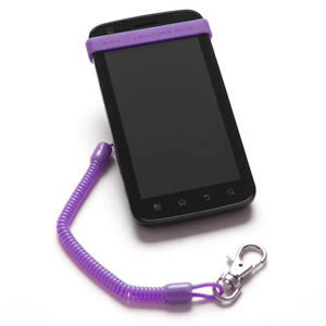 The Caraselle My Bunjee Mobile Phone Accessory in Purple. Get a Grip. Bunjee it! As seen on Dragons Den