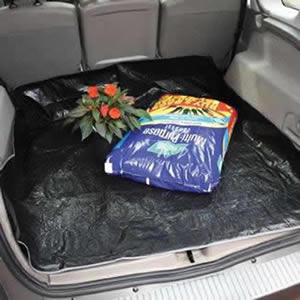 The Caraselle Strong & Robust Car Boot Liner made in high quality Black Polyethylene U.V with four corner handles & eyelets 140x140cm