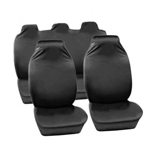 The Caraselle Heavy Duty 100% Nylon Car Seat Protectors Full Set in Grey