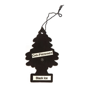The Caraselle Magic Tree Black Ice Car Air Freshener (black)