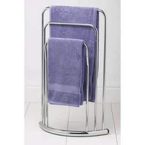 Bow Fronted 3 Rail Towel Stand