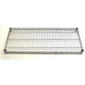 "36"" wide steel with chrome finish shelf"