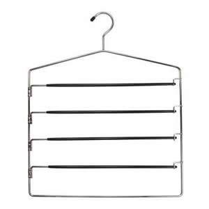 Chrome Non-Slip Space Saver Trouser Hanger