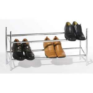 Chrome Stackable Shoe Rack