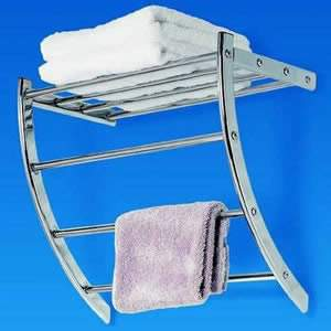 Chrome Towel Arc Storage Rack