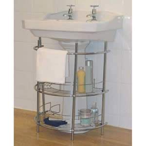 A deluxe chrome finish Under Basin Storage Unit